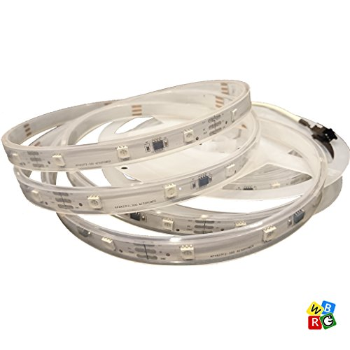 AP4837FZ-350Q LED Strip Lights 16.4 feet, DC 5V USB powered, Smartphone APP-enabled Addressable RGB Color Changing for Thanksgiving Christmas Lighting and Holiday Party Decorating, IP65 Waterproof