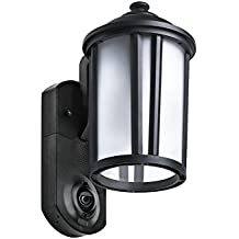 Maximus Video Security Camera & Outdoor Light - Traditional Black - Works with Amazon Alexa