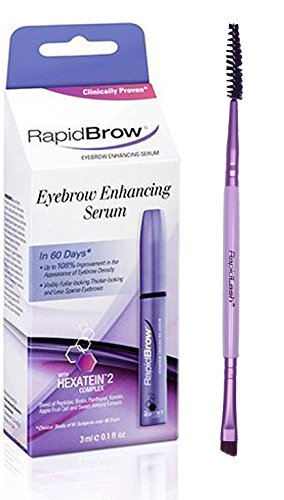 RapidBrow Eyebrow Enhancing Serum 3ml /0.1 fl. oz. With FREE Eyebrow Duo Brush