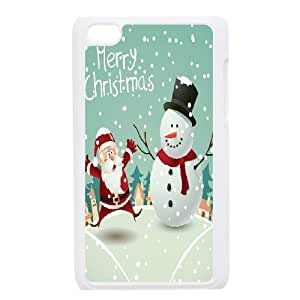 Custom Colorful Case for Ipod Touch 4, Snowman Cover Case - HL-497549
