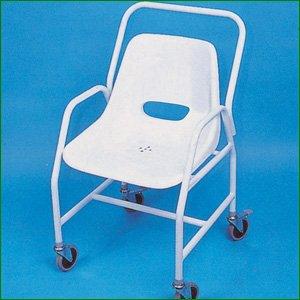 Mobile Wheeled Shower Chair - Adjustable Height: Amazon.co.uk ...