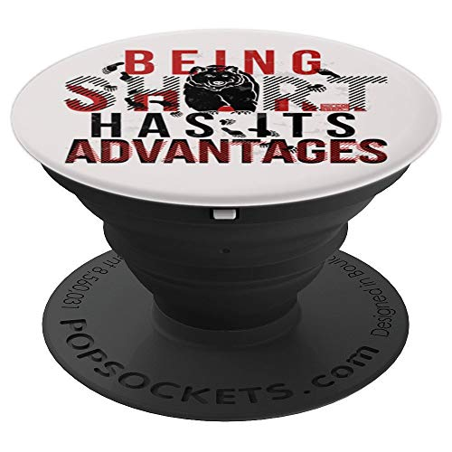 BEING SHORT HAS ADVANTAGES BEAR BEARISH STOCK MARKET PopSockets Grip and Stand for Phones and Tablets
