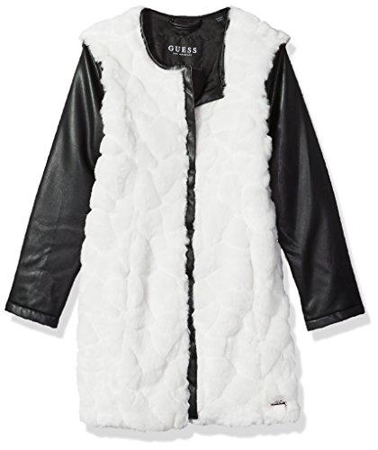 GUESS Big Girls' Long Sleeve Faux-Fur Jacket, Macadamia, 16 by GUESS