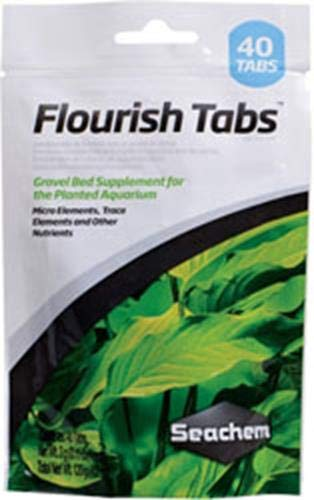 - Seachem Flourish Tabs Growth Supplement - Aquatic Plant Stimulant 40 ct