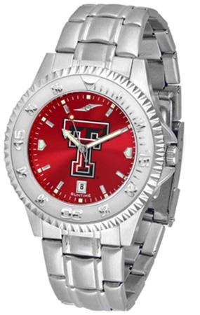 Linkswalker Mens Texas Tech Red Raiders Competitor Steel Anochrome - Raiders Watch Mens Executive