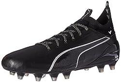 PUMA Men's Evotouch 1 FG Soccer Shoe, Puma White-True Blue-Blue Danube, 8.5 M US