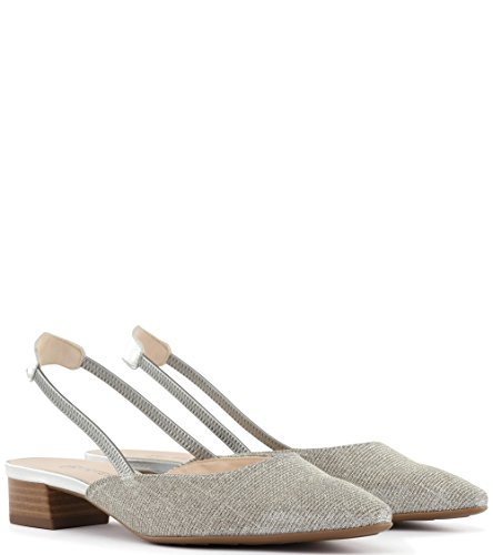 In Women's Beige Shimmer Peter Low Castra Dressy Sandals Sand Kaiser Heel UnqA0wHn