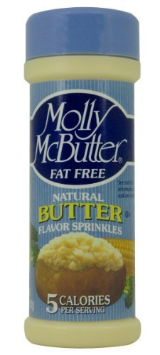 Molly McButter, Natural Butter Flavor Sprinkles, 2oz Container (Pack of 3)