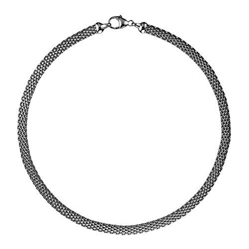 14 K Weißszlig; Gold Popcorn 6,2 mm x 3 mm Hochglanz Karabinerverschluss Halskette – Länge Optionen  41 46 51  51.0 Zentimeter