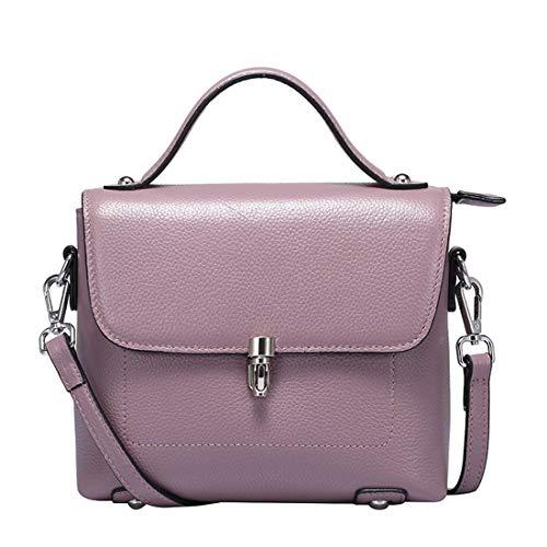 Cuero Grano De Para Igspfbjn Bolso Casual color Purple Cuadrado Messenger Black Bloqueo Simple Mujer Limusina Retro vRqqwPE0S
