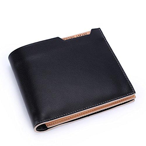 Ventana Caso de la tarjeta Carteras,Extra Capacidad Cuero Plegable Rfid Bloqueo Carteras Business Elegante-A 12x10cm(5x4inch) A