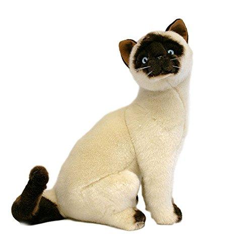 Bocchetta Plush Toys Siamese Cat/Kitten Sitting Soft Plush Toy - Tulip Medium Cream