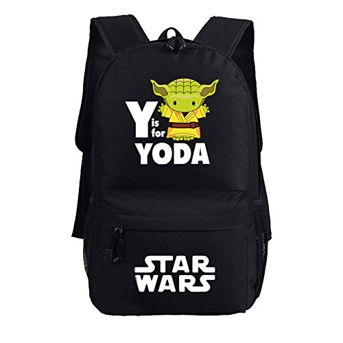 Fett Backpack - YOURNELO Unisex Star Wars Boba Fett Mandalorian Armor Backpack Canvas School Bag Bookbag (YODA)