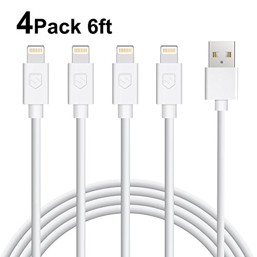 Sundix iPhone Charger 4Pack 6FT Lightning Cable Charger Comp