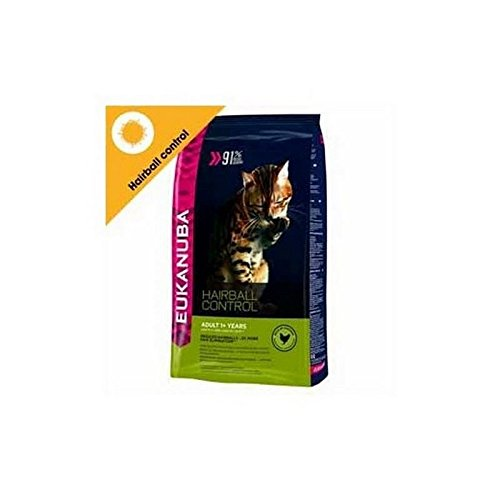 Eukanuba Hairball Control Adult Dry Cat Food for indoor Cats (4kg) (Pack of 6)