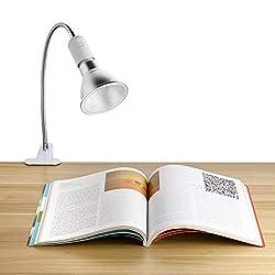 360 Degrees Flexible Desk Lamp Holder E27 Base Light Socket Gooseneck Clip-On Cable With On off Switch Plugs For Night Light Bulb Grow Lights