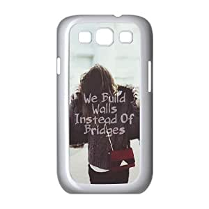 Samsung Galaxy S3 9300 Cell Phone Case White_We Build Walls Instead Of Bridges Zvxpt