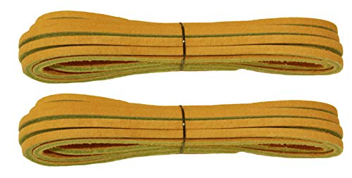 FeetPeople Leather Shoe/Boot Laces, Burnt Sienna, 45, 2 Pack