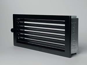KS24 CB Standard - Rejilla de ventilación, 23 x 23 cm, color negro