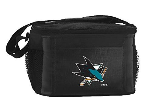 New NHL Hockey 2014 Team Color Logo 6 Pack Lunch Tote Bag Cooler - Pick Team (San Jose Sharks) Nhl Team Logo Merchandise