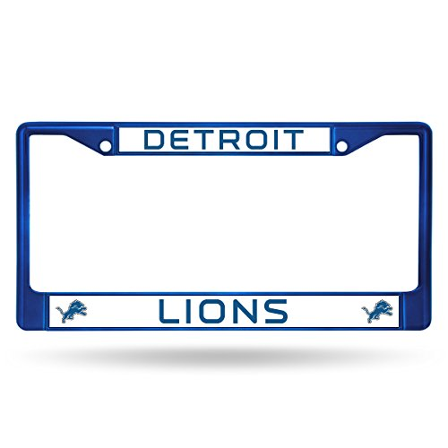 Rico Industries NFL Detroit Lions Team Colored Chrome License Plate Frame