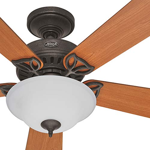raditional Provencal Gold Indoor Ceiling Fan with Light Kit (Certified Refurbished) ()