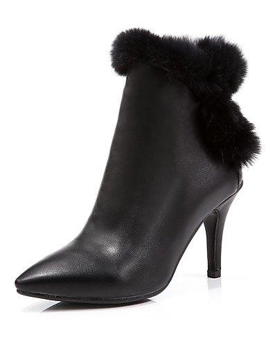 5 Chaussures bout décontracté 5 automne us5 Black hiver Eu36 soirée Carrière Cn35 Talons Bureau Xzz Stiletto Pointu bottine femme Printemps Bottes Uk3 Talon 81OwTxUq5