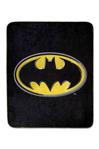 Batman Emblem Luxury Fleece Throw Blanket With Sewn Edge Super Soft 50  X 60  100  Polyester Fiber