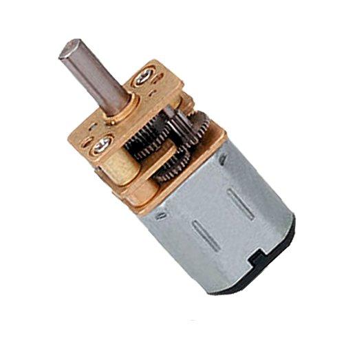 Tolako DC Motor 6v High Torque DC Gear Motor 60 RPM Metal Geared Motor 12mm DC Gearbox (60 RPM)