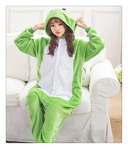 Animal Stitch Star Unicorn Pikachu Onesie Adult Unisex Cosplay Costume Pajamas Sleepwear for Men Women Xmas H Frog XL -