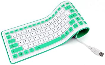 Mooster Gum Slim Mk53 - Teclado Flexible con USB, Color Verde ...
