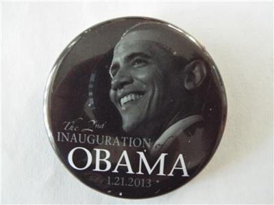 RARE OFFICIAL BARACK OBAMA The 2nd INAUGURATION 2013 Pinback Button 2.25 in - Inauguration Pinback Button