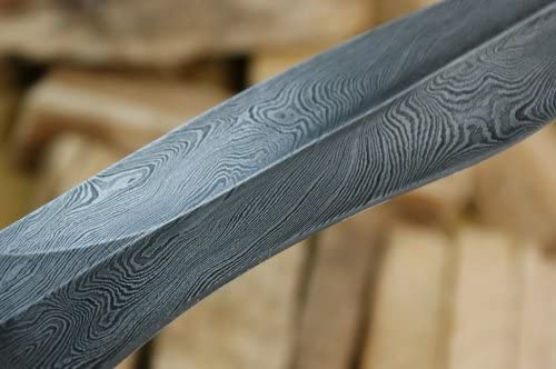 Knife King Cobra Damascus Handmade Bowie Hunting Knife. Come