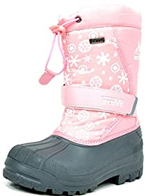 ARCTIV8 KPOLE New Kids Casual Everyday Faux Fur Lining Padded Insole Zip Up Winter Outdoor Snow Skii Boots