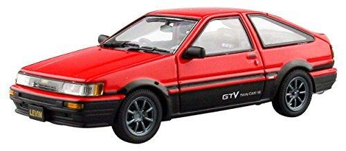 EBBRO 1/43 Toyota Corolla Levin 1600GTV alloy wheels Red / Black by MM peak