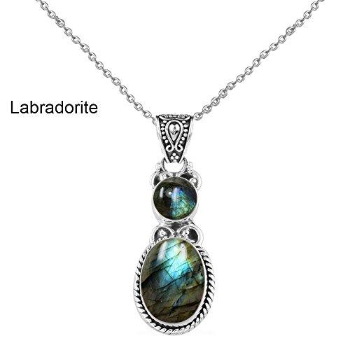 Labradorite Pendant Bracelet - 7