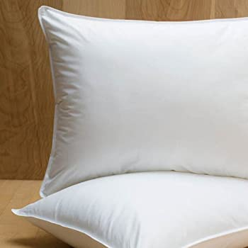 Amazon Com Extra Firm White Goose Down Pillow Pillow Size