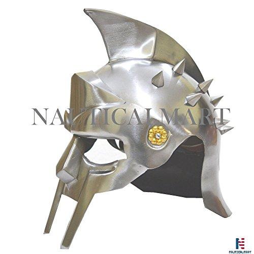 NAUTICALMART Medieval Spartan Armor-Decimus Gladiator Helmet-Movie Replica Costume Maximus