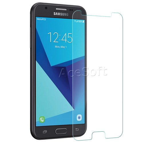 super popular 0887c 4df86 Premium Tempered Glass Screen Protector Guard Shield Saver Armor Cover for  MetroPCS Samsung Galaxy J3 Prime SM-J327T1 Cellphone - USA