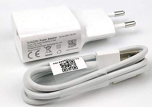 Cargador modelo MDY-08-EO (5V/2A) + Cable USB Tipo C, Blanco, Compatible con Xiaomi Mi5, Mi5s, Mi6, Mi8, Mi8 Lite