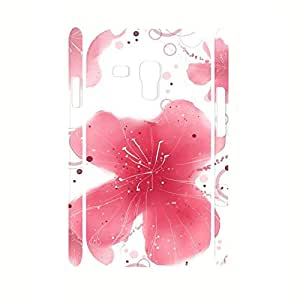 Individualized Pink Poppy Pattern Floral Theme Slim Fit Case for Samsung Galaxy S3 Mini I8200