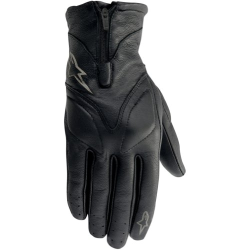 Alpinestars Stella Vika Women's Leather On-Road Racing Motorcycle Gloves - Black / Medium
