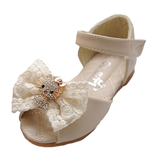 Ohmais Kinder Mädchen flach Freizeit Sandalen Sandaletten Kleinkinder Mädchen Halbschuhe Sandalette Ballerinas Aprikose