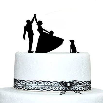 Amazon Com Buythrow Funny Wedding Cake Topper Silhouette Bride And