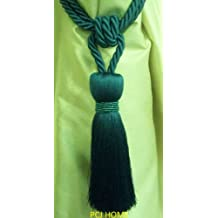 Milly Designer Tie Back / Crystal Tassel For Curtain Fabric (Teal)