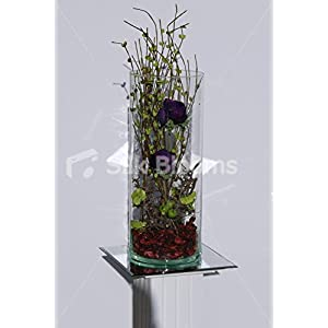 Large Modern Table Display w/ Green Hydrangea & Purple Anemones 92