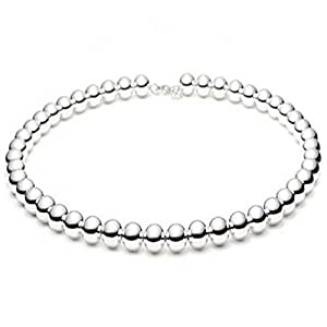10mm Large Shiny Polished Italian 925 Sterling Silver