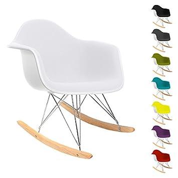 RAR Schaukelstuhl Charles Eames Style   Kunstleder