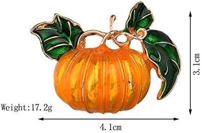 Skyeye Broche de Halloween Se/ñoras Simples de Calabaza de Alto Grado Simulaci/ón de la Planta Broche de Regalo de la Fiesta de Decoraci/ón de Broche de Traje