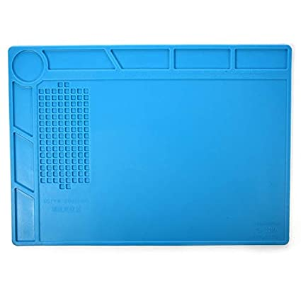 Magnetic Heat Insulation Silicone Pad Mat Platform For Soldering Repair 45x30cm